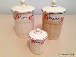 Set barattoli in ceramica anni 60'