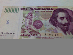 Banconota da 50000 lire