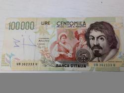 Banconote da 100000 lire