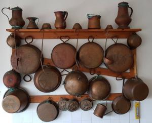 Collezione articoli in rame originali '800/900 per la cucina