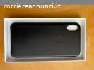 Custodia in pelle per iPhone XS Max - Nero