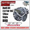 Motore AUDI A4 2.0 TDI '06 170cv, sigla BRD