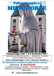 Pellegrinaggio a Medjugorje dall'1 al 6 settembre 2021