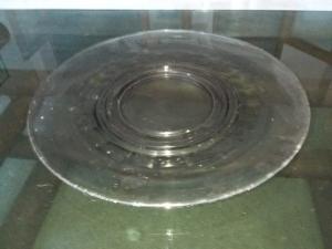 Piatto in vetro vintage