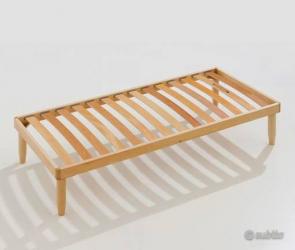 Rete legno natural/materasso aloe memory Baldiflex SINGOLO