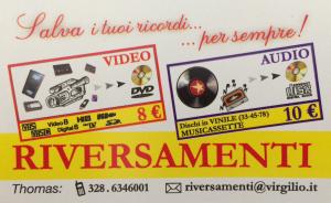 Riversamenti pellicole 8mm, Super8, VHS, VHSc, MiniDV SU DVD