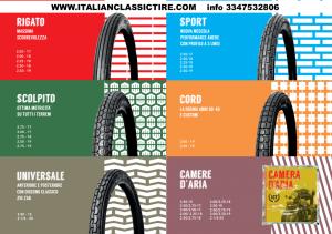 Ruote, cerchi e pneumatici per moto d'epoca e classiche