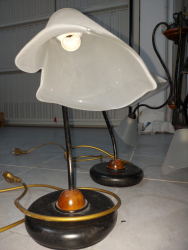 set lampadario sospensione e due abat jour