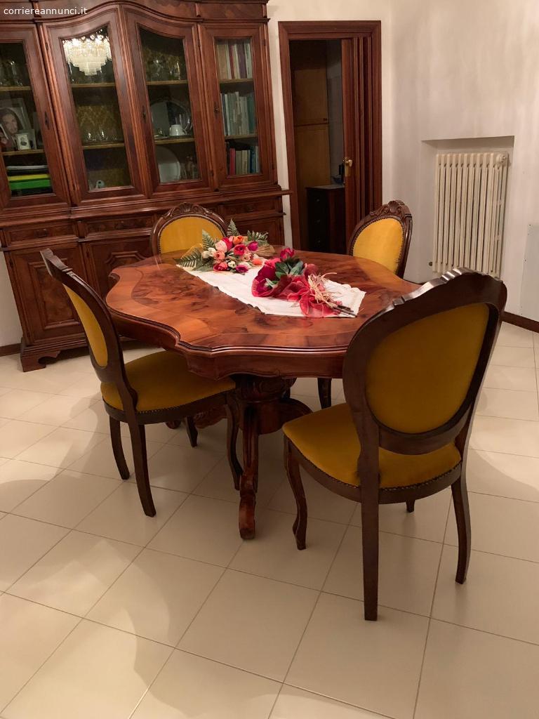 Sabatini Sedie E Tavoli.Annunci Arredamento Casa Tavolo In Radica Di Noce Con 6 Sedie