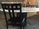 Tavolo ovale di design e 4 sedie
